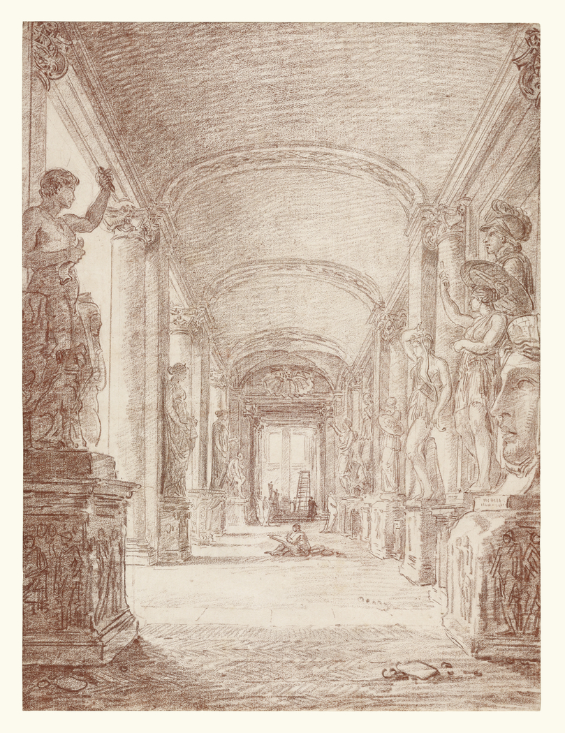A Draftsman in the Capitoline Gallery