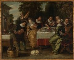 A Party outside an Inn