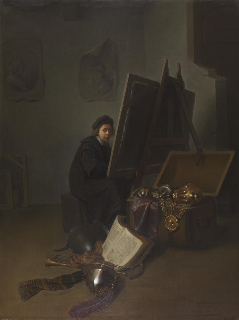 An Artist in his Studio (Self-portrait?)