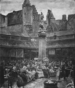 An Auction in the Fishmarket at Antwerp