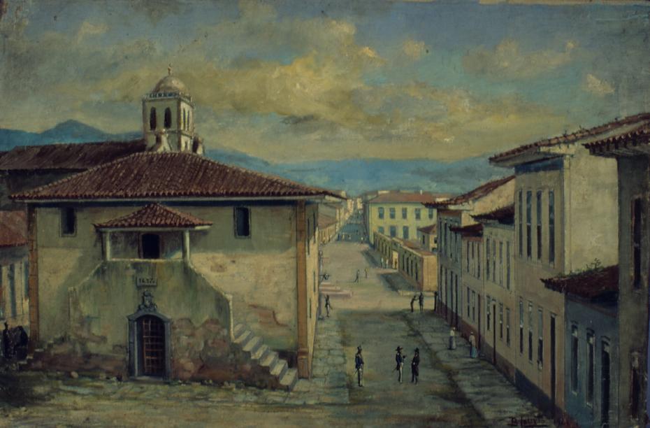 Antigo Páteo da Cadeia de Santos, 1875