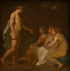 Apollo charging the Parcae to visit Ceres, who has fled from the Earth