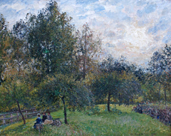 Apple Trees and Poplars, Éragny, Sunset
