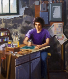 """Apprentice"" by Lydia Martin© (28""x24"") oil on Belgian linen"