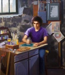 """Apprentice"" by Lydia Martin© (28""x24"") oil on Belgian linen"