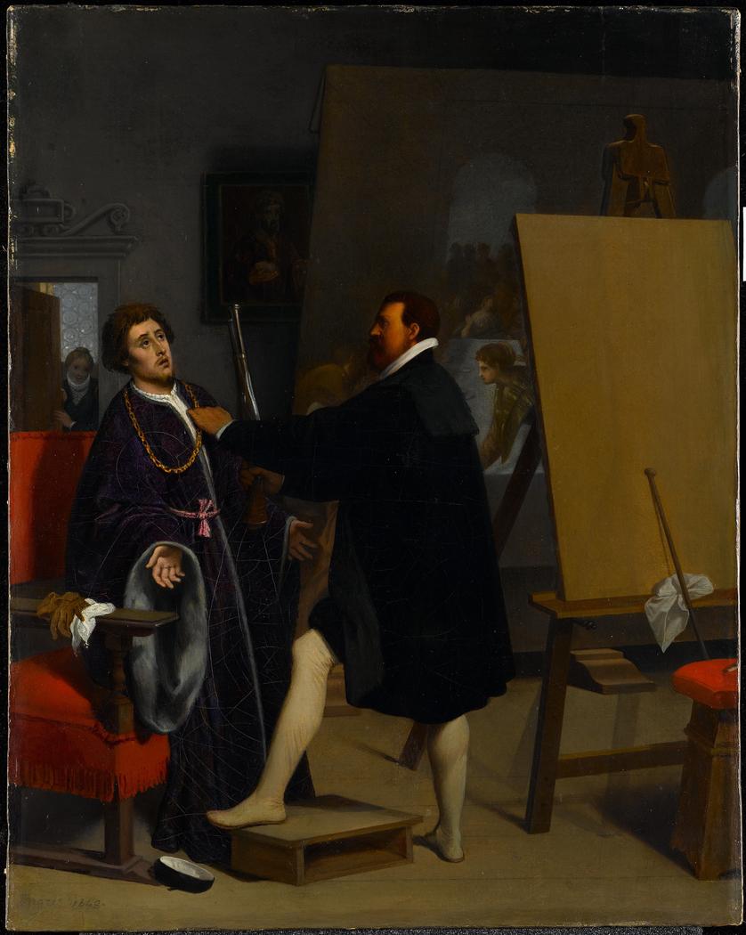 Aretino in the Studio of Tintoretto