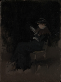 Arrangement in Black: Girl Reading