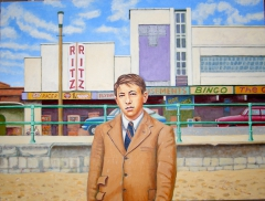 Boy aged 14 on the beach at Cleethorpes,  (2011) oil on linen, 90 x 120 cm