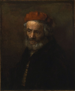 Bust of an Old Man Wearing a Red Hat