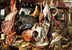 Butcher's Stall with the Flight into Egypt