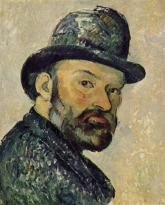 Cézanne with bowler hat, sketch