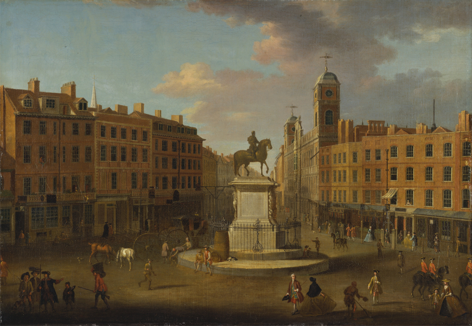 Charing Cross, with the Statue of King Charles I and Northumberland House
