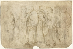 Christus en zes apostelen