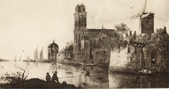Cityscape with a Canal (View of Dordrecht from the South)