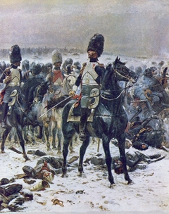 Colonel Lepic at Eylau with Grenadiers à Cheval of the Garde Impériale