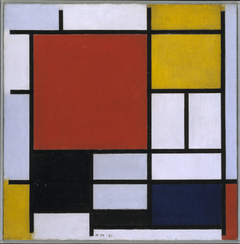 Composition with Red, Yellow, Blue, and Black