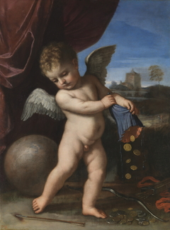 Cupid spurning riches
