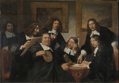 De overlieden van het Sint Lucasgilde te Haarlem, 1675