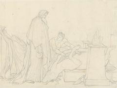 Dido ondervraagt de Goden, door de ingewanden van een offerdier te onderzoeken