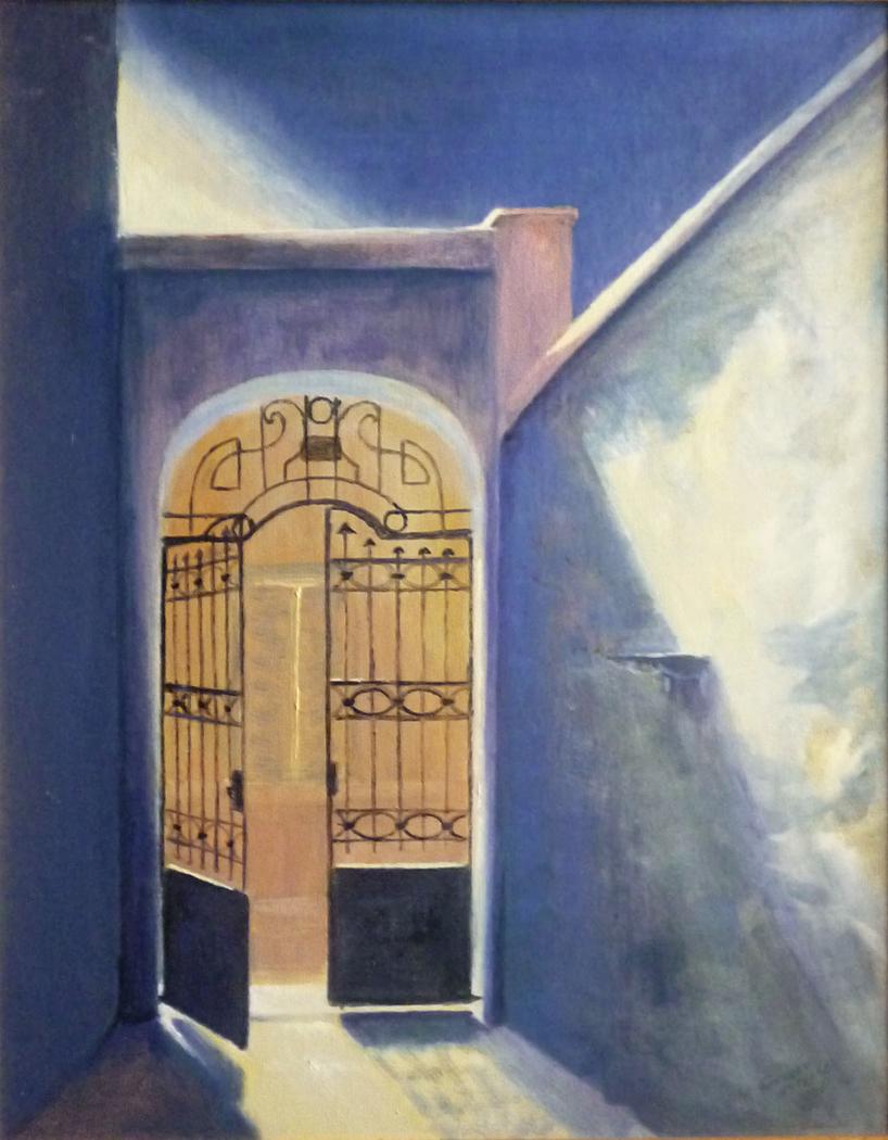 Gate in Tripodon street - Πόρτα στη οδό Τριπόδων