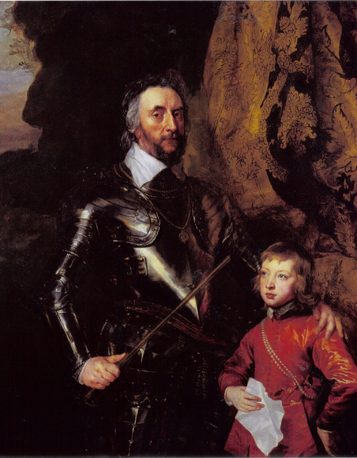 Double portrait of Thomas Howard, 21ste Earl of Arundel (1585-1646) with his grandson, Thomas Howard, later 22nd Earl of Arundel and 5th Duke of Norfolk