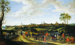 Dutch envoy Adriaan Pauw entering Münster in 1646 for Peace Negotiations