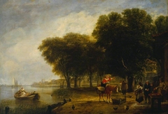 Dutch Peasants Waiting the Return of the Passage Boat