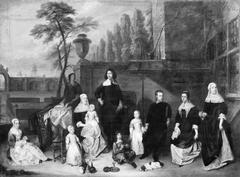 Family Group on a Garden Terrace