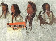 Four indians, sketch
