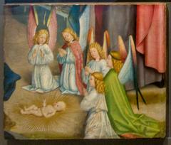 Fragment from the Liesborn High Altarpiece: Angels adoring Christ