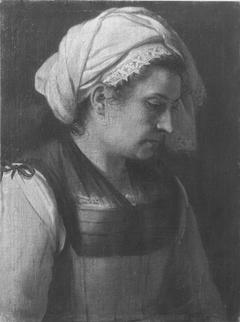 Frau mit Kopftuch (Art des)
