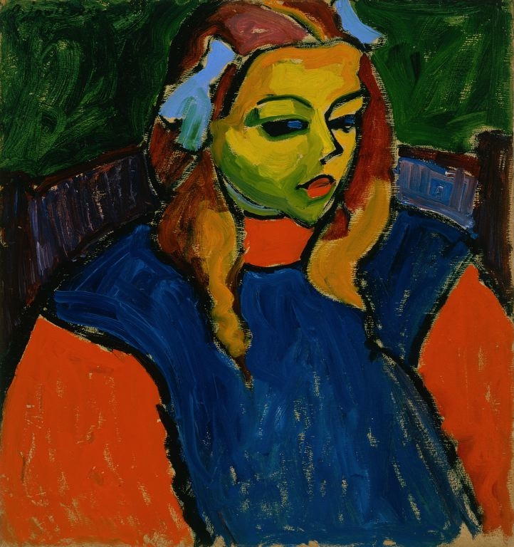 Girl with the Green Face