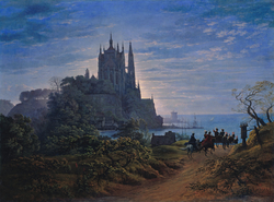 Gothic Church on a Rock by the Sea