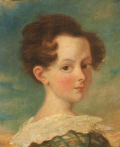 Head of a Girl in a Vandyck Collar over Tartan