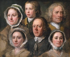 Heads of Six of Hogarth's Servants