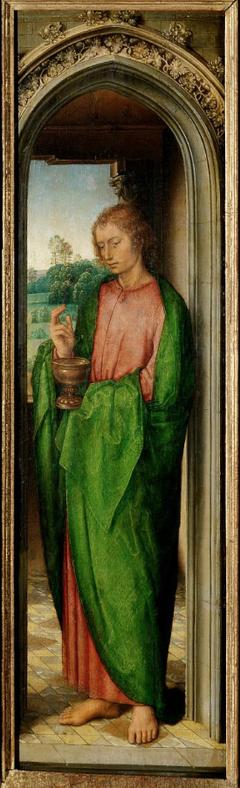 Innenflügel des Johannesaltärchens: Johannes der Evangelist