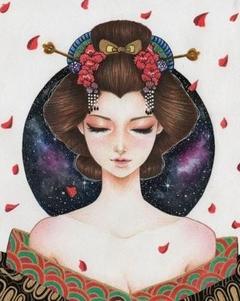 Japanese Kimono Girl II
