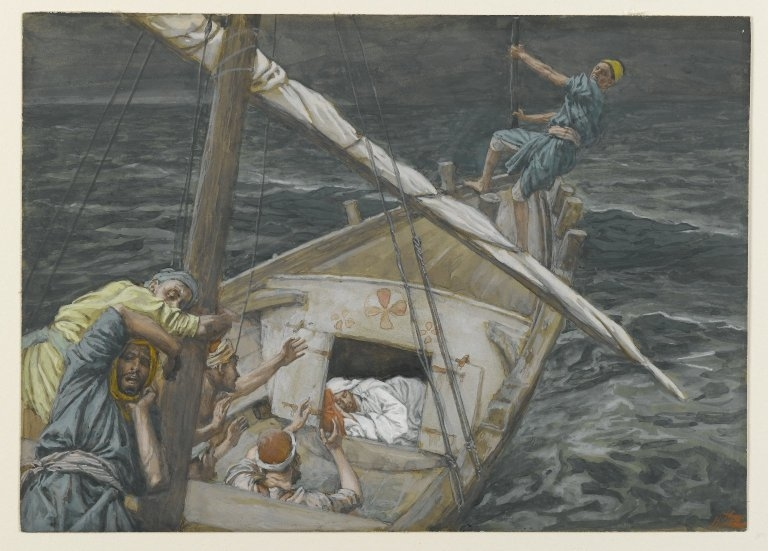 Jesus Sleeping During the Tempest