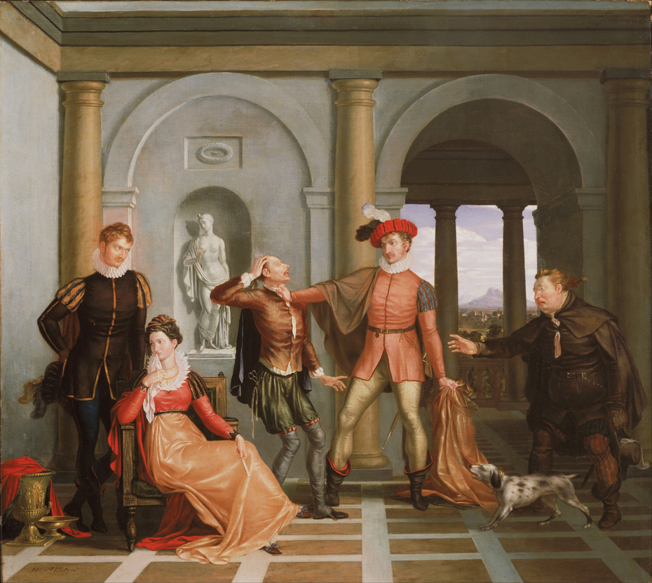 """Katharina and Petruchio (Scene from Shakespeare's """"The Taming of the Shrew"""")"""