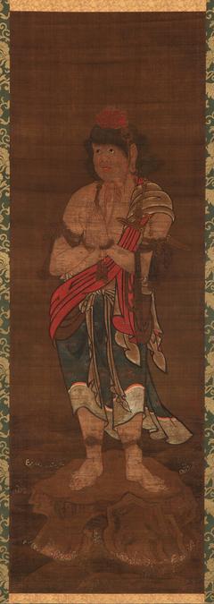 Kongara-doji, attendant to the Buddhist Deity, Fudo Myo-o