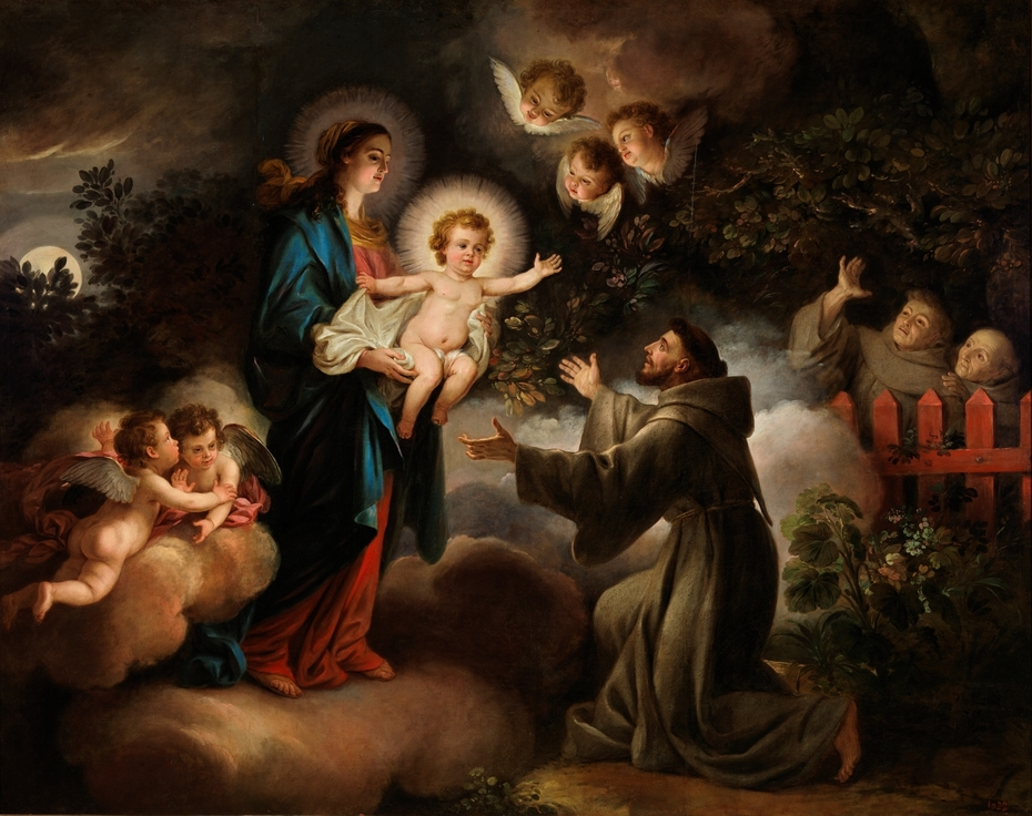 La Aparición de la Virgen a San Francisco