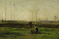 La famille du peintre en campagne
