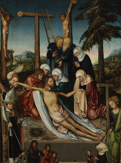 Lamentation of Christ with Saint Wolfgang and Saint Helen and Unidentified Donors