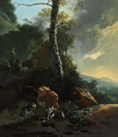 Landscape with enraged ox