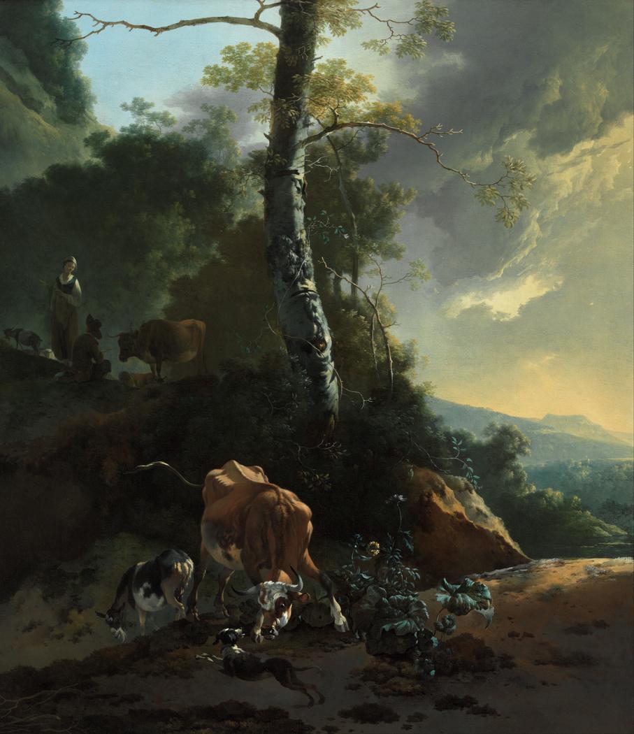 Landscape with enraged ox