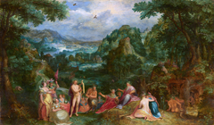Landscape with the judgment of Midas