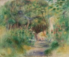 Landscape with Woman Gardening (Paysage et femme jardinant)
