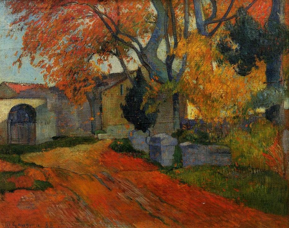 Lane at Alchamps, Arles