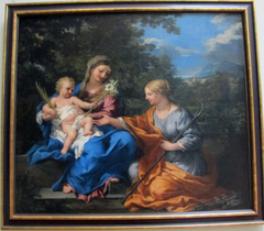 Madonna and Child with St. Martina