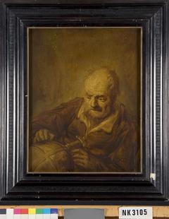Man met globe (Heraclitus?)